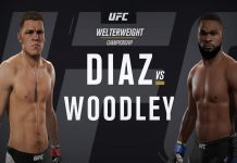 Nate Diaz vs Tyron Woodley