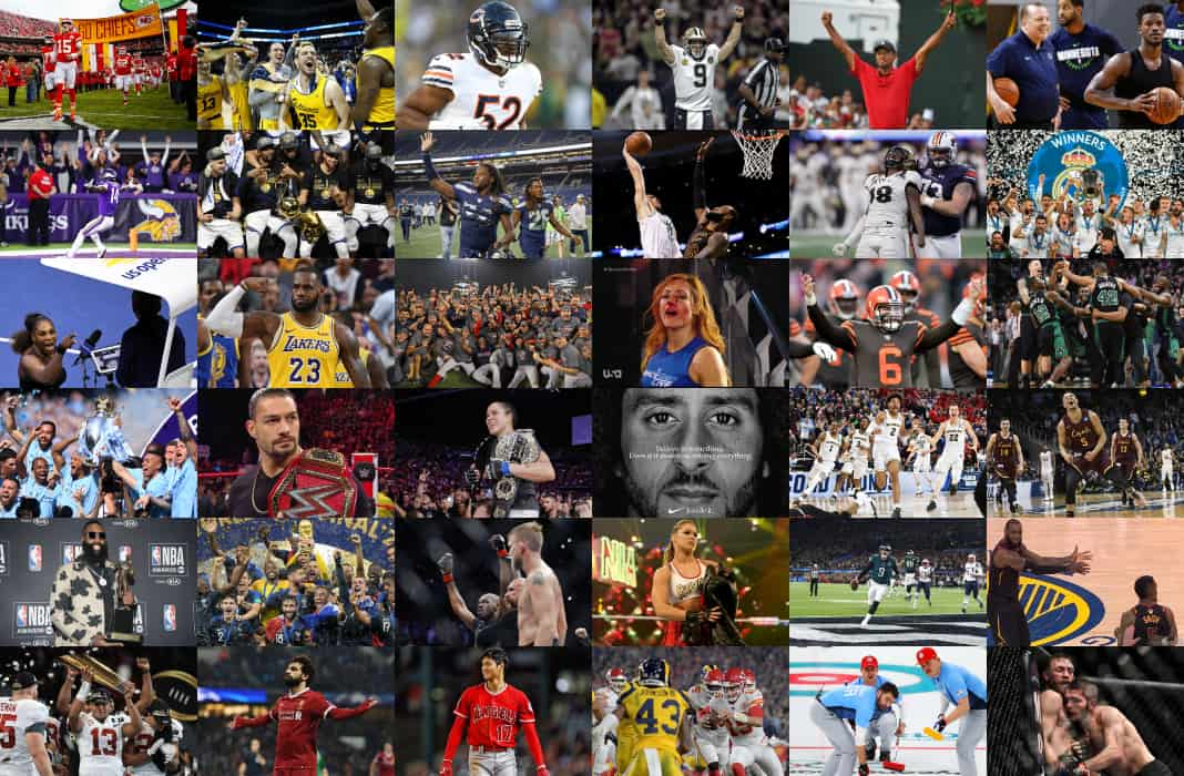 sports moments collage nba persources combat nfl